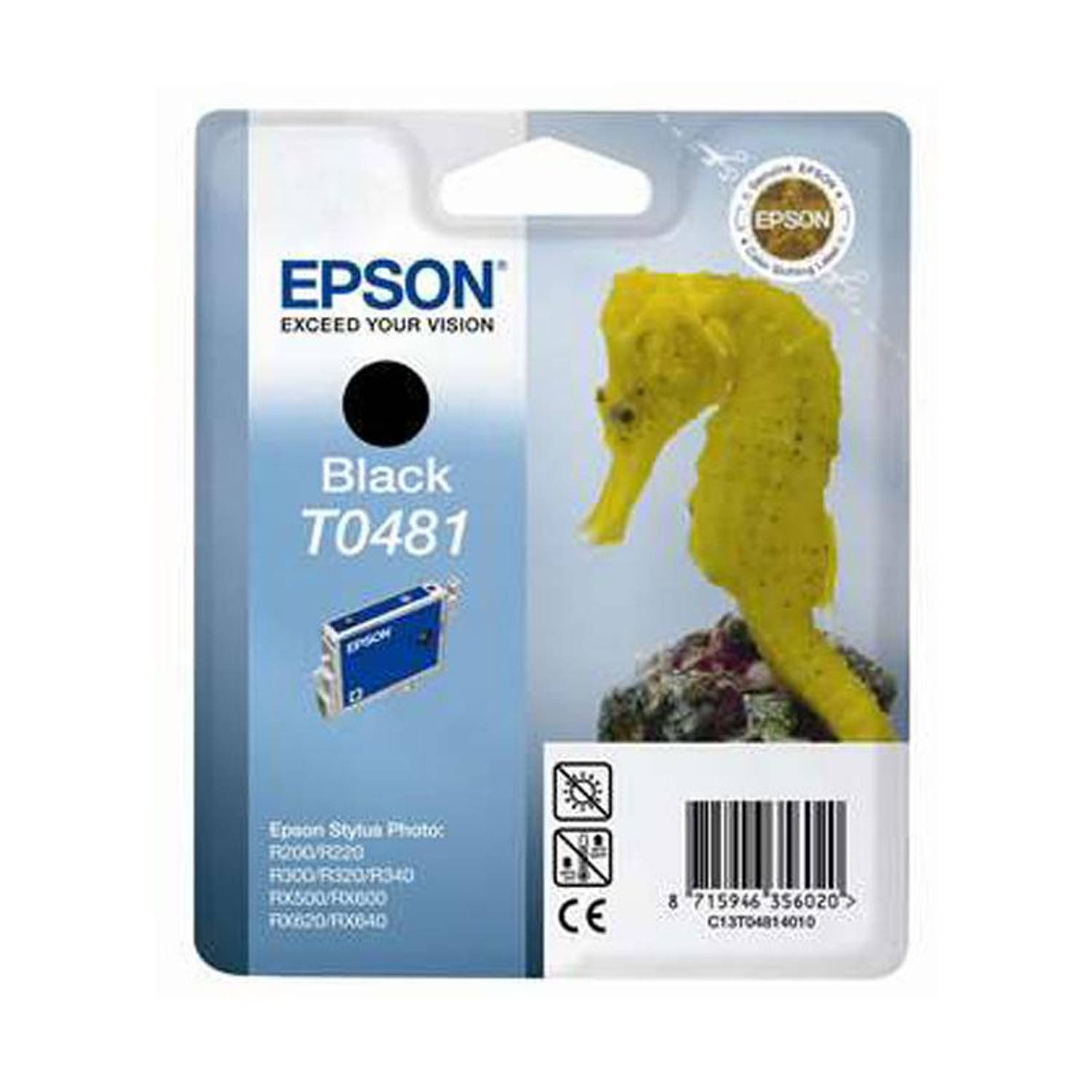 Epson T0481 zwart Cartridge