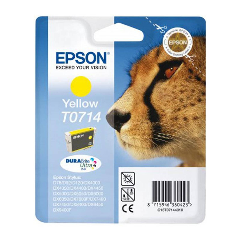Epson T0714 geel Cartridge