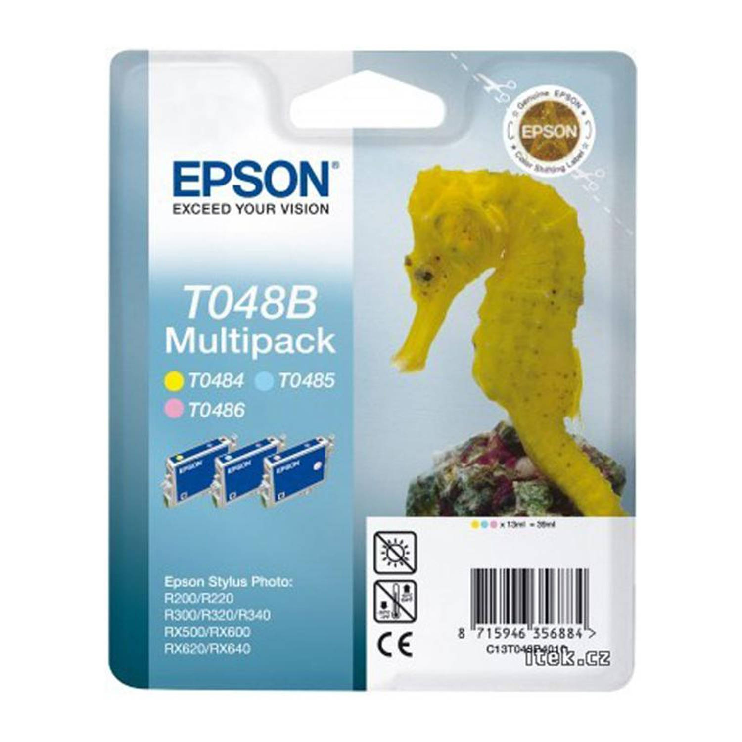 Epson T048B cartridge multipack kleur Cartridge
