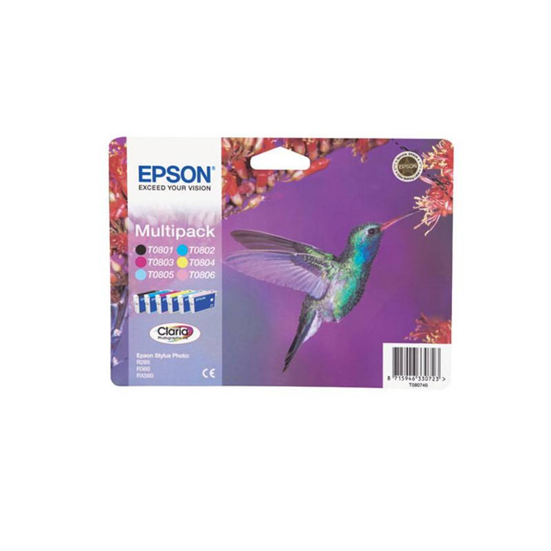Epson T0807 multipack zwart en kleur Cartridge