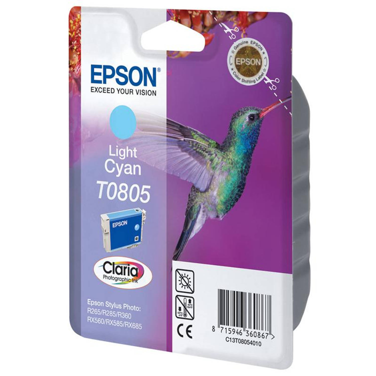 Epson T0805 licht cyaan Cartridge