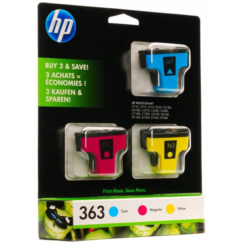 HP 363 Multipack CMY kleur Cartridge