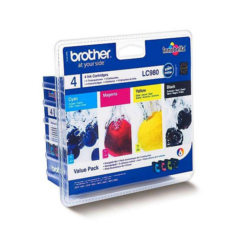 Brother LC-980 Voordeelpak zwart en kleur Cartridge