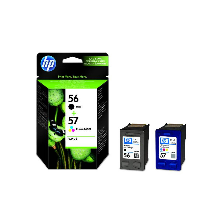 HP 56 en 57 zwart en kleur Cartridge