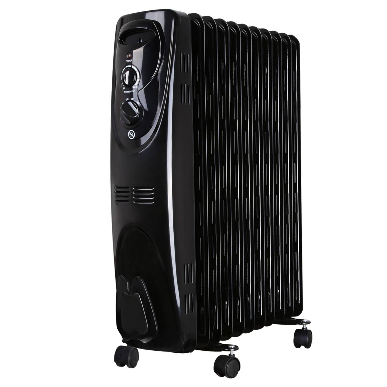 Afbeelding van Aigostar Tummie 33JIE - Oliegevulde radiator, 2300 watt, 11 ribben - Zwart