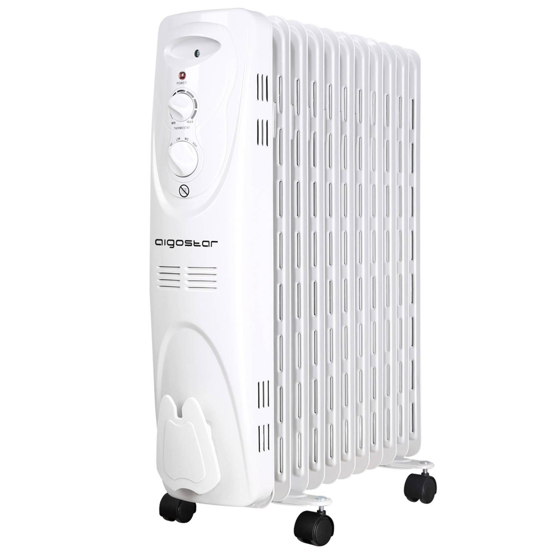 Afbeelding van Aigostar Pangpang 33IEJ - Oliegevulde radiator, 2300 watt, 11 ribben - Wit
