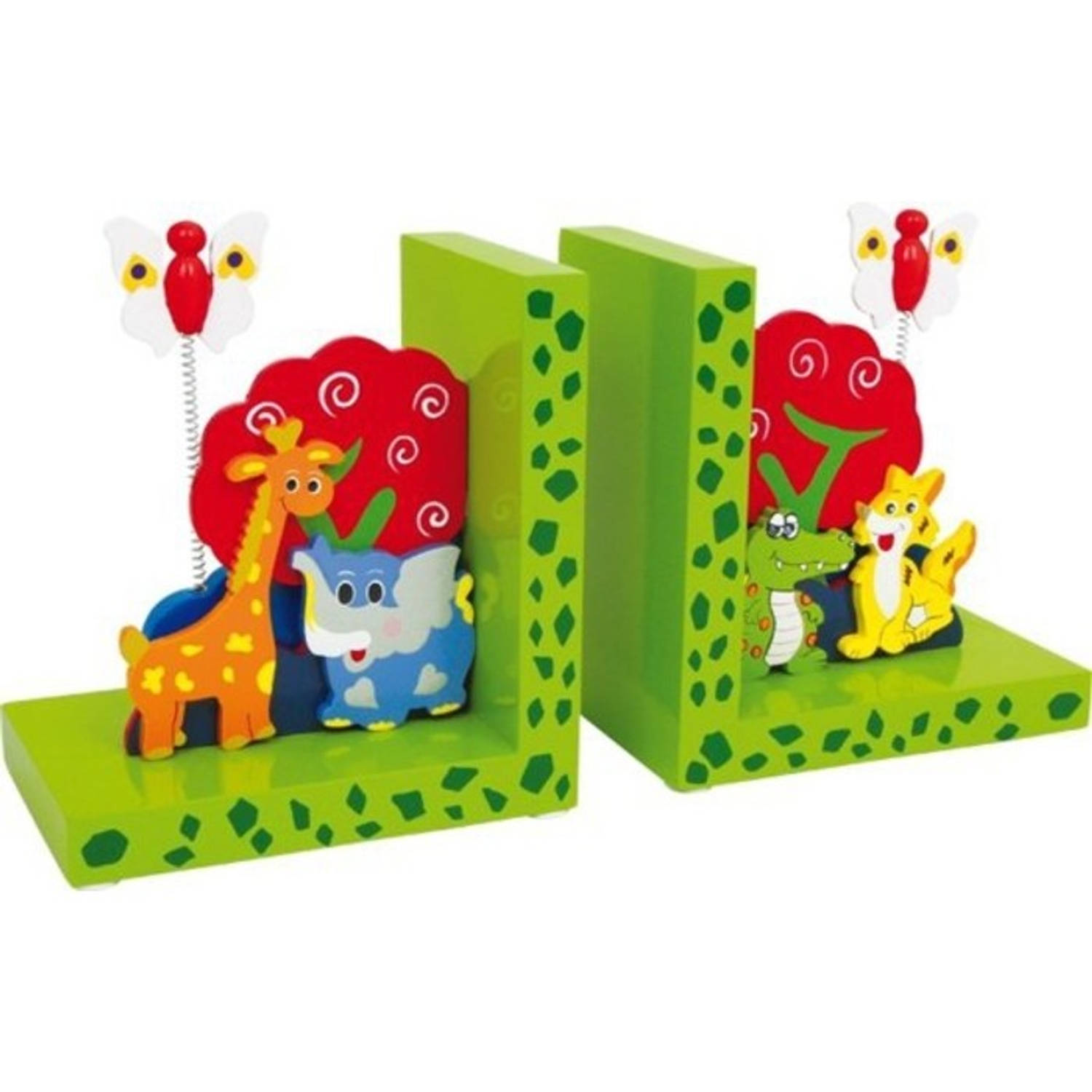 small foot Buchst?tzen Wilde Tiere, 2er Set 3408