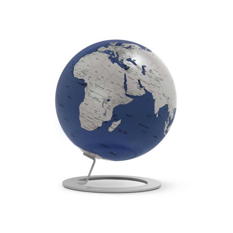 Afbeelding van Globe iGlobe Blue 25cm diameter metaal/chroom