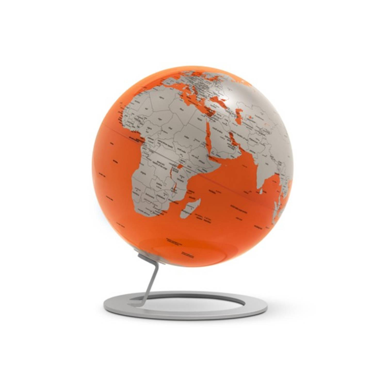 Afbeelding van Globe iGlobe Orange 25cm diameter metaal/chroom