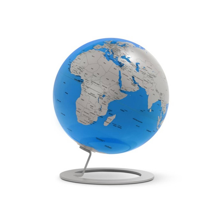 Afbeelding van Globe iGlobe Turquoise 25cm diameter metaal/chroom