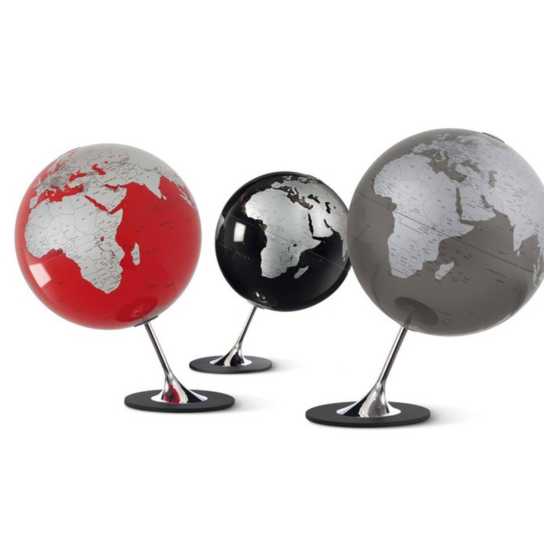 Afbeelding van Globe Anglo Slate 25cm diameter metaal / chrome