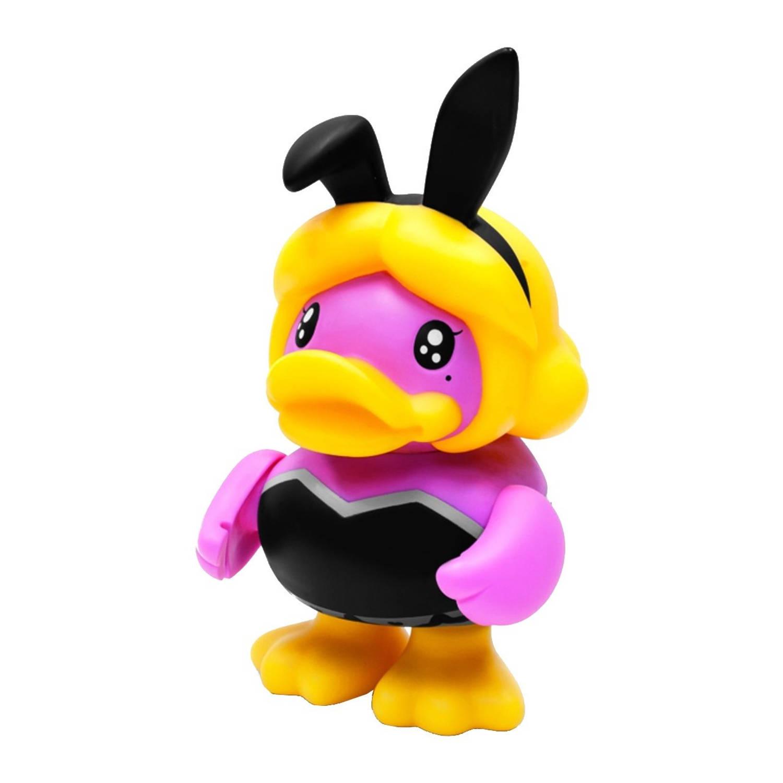Afbeelding van B.Duck spaarpot eend 10e roze konijn 16 cm
