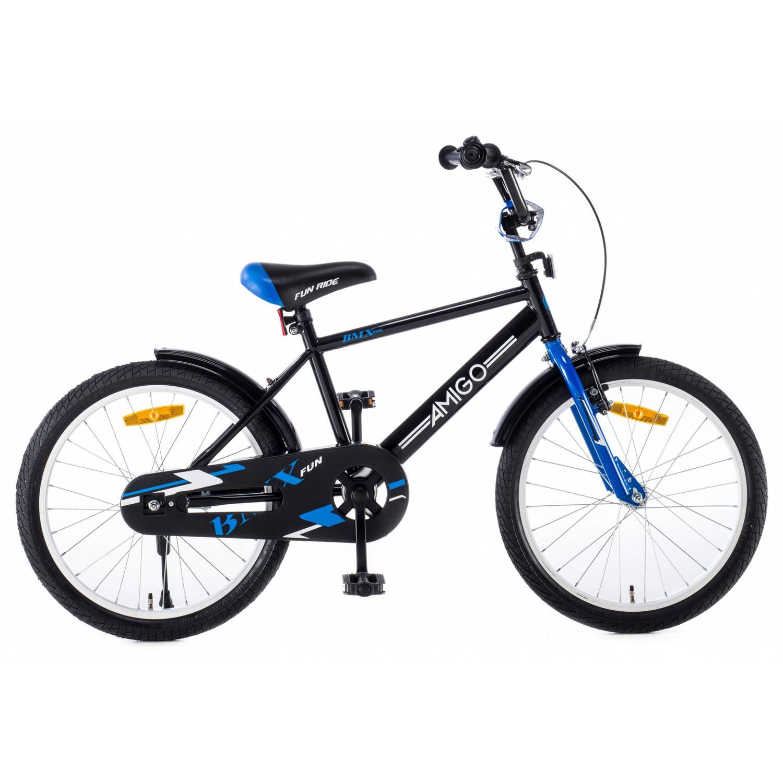 Afbeelding van AMIGO BMX Fun 20 Inch 31 cm Jongens Terugtraprem Zwart/Blauw