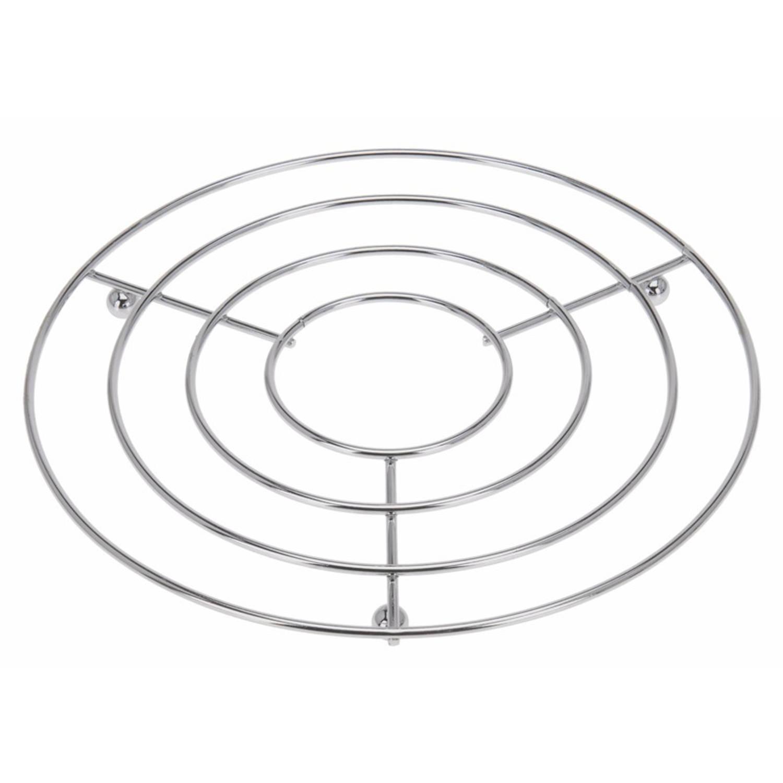 Korting Pannen Onderzetters Rond Roestvrijstaal 24 X 19 Cm