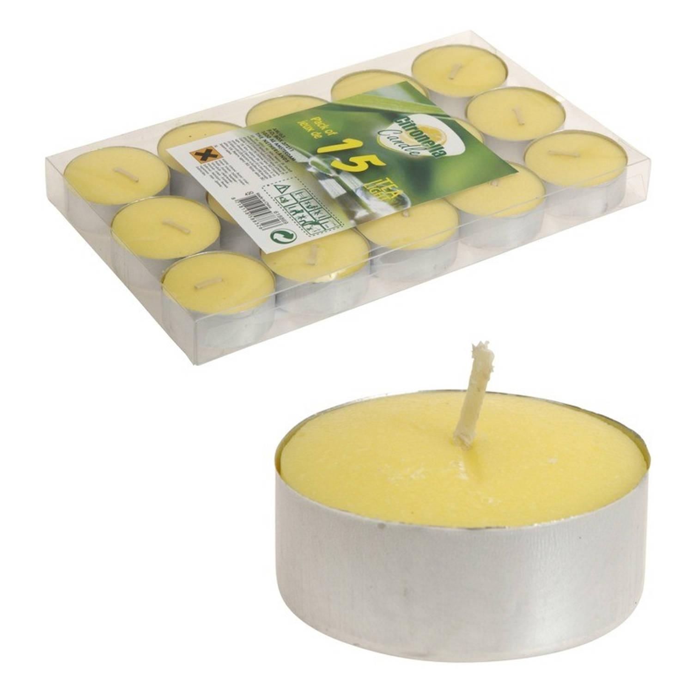 15x Citronella theelichten