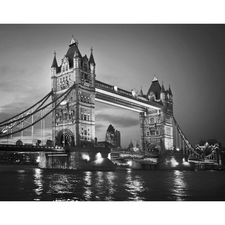 Tower Bridge - Fotobehang - 315 x 232 cm - Zwart/Wit
