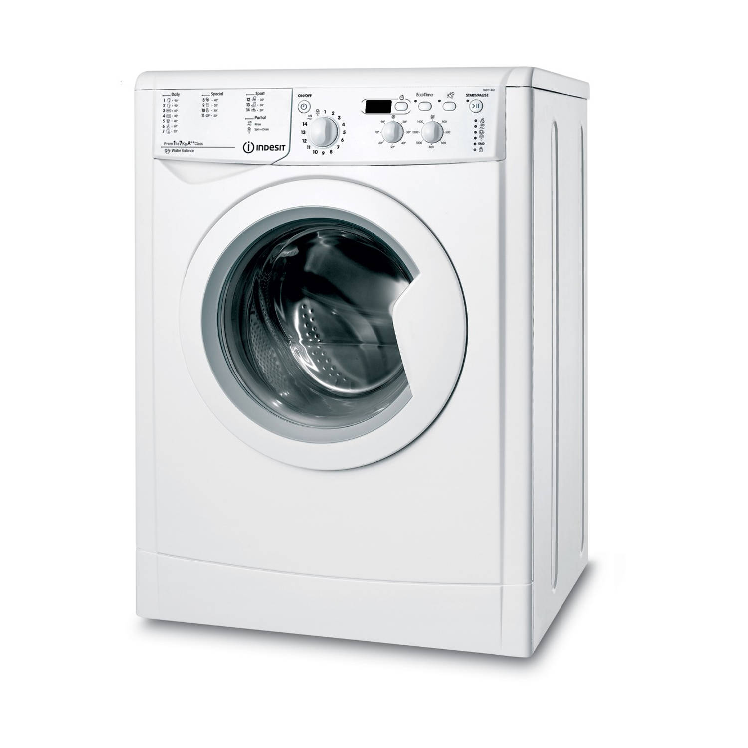 Indesit IWD 71482 B (EU) wasmachines - Wit