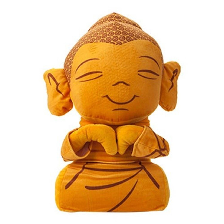 Kamparo pluchen knuffel Boeddha geel 51 cm