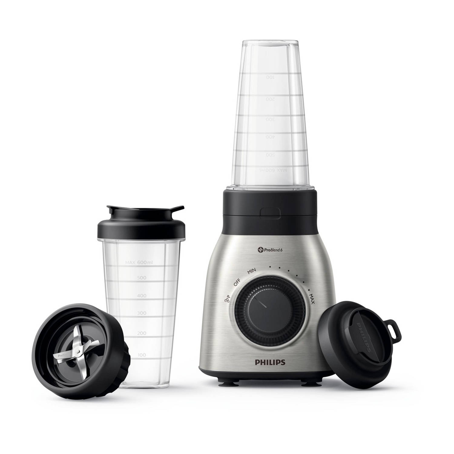 Philips blender Viva Collection HR3554/00 - RVS