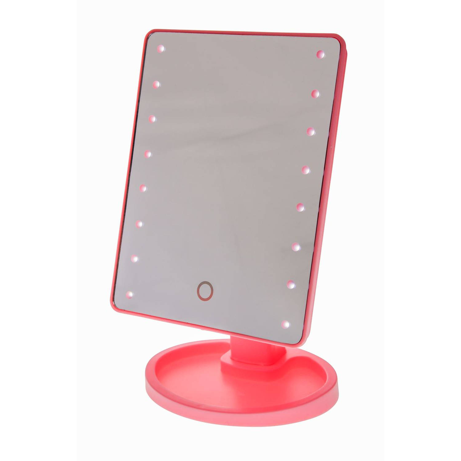 Touch Screen Make-Up Spiegel met LED verlichting - Roze