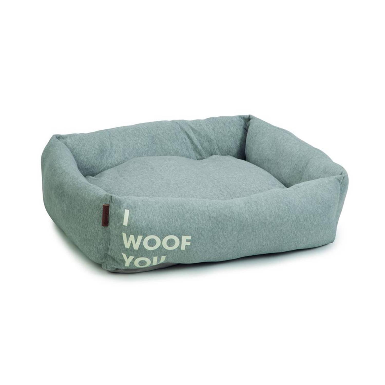 Beeztees ligbed Woof You - grijs - 80x70x22 cm