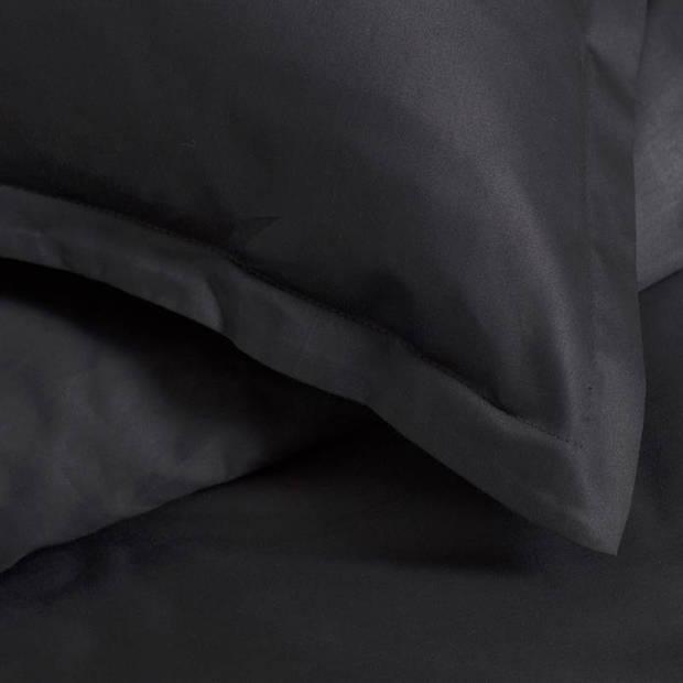 Cinderella Uni dekbedovertrek - 100% katoen-satijn - 2-persoons (200x200/220 cm + 2 slopen) - 2 stuks (60x70 cm) - Zwart