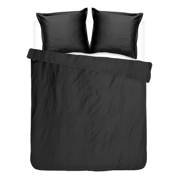 Cinderella Uni dekbedovertrek - Lits-jumeaux (240x200/220 cm + 2 slopen) - Katoen satijn - Black