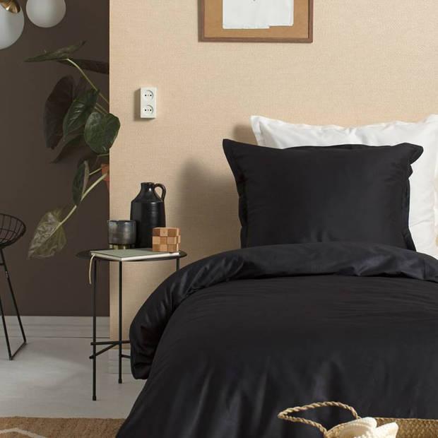 Cinderella Uni dekbedovertrek - 100% katoen-satijn - 1-persoons (140x200/220 cm + 1 sloop) - 1 stuk (60x70 cm) - Zwart