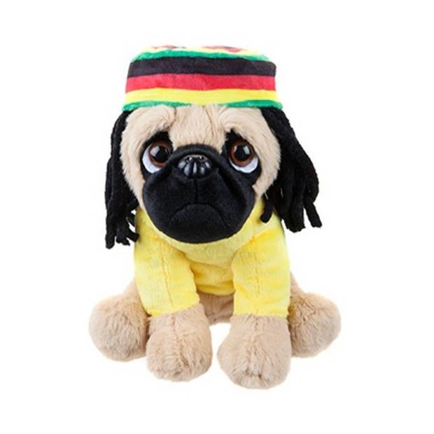Kamparo hondenknuffel rasta 20 cm geel