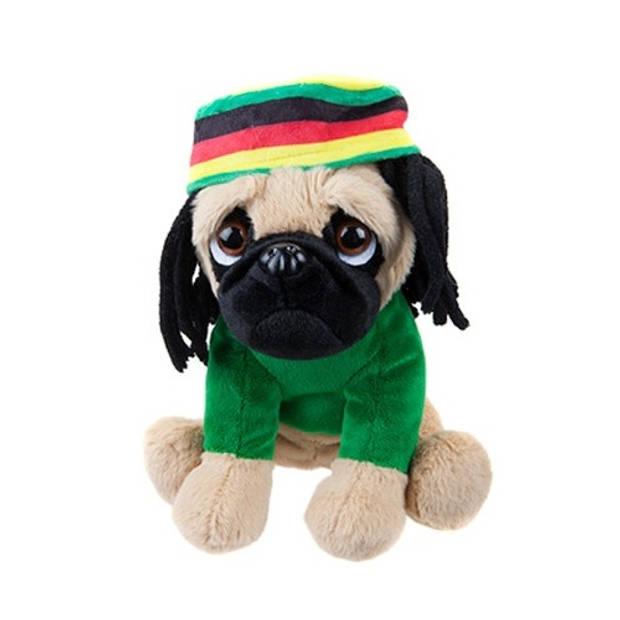 Kamparo hondenknuffel rasta 20 cm groen
