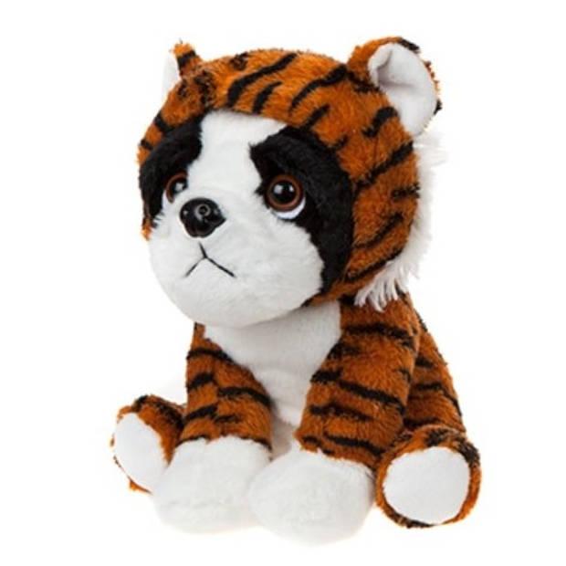 Kamparo hondenknuffel tijger 20 cm bruin/wit
