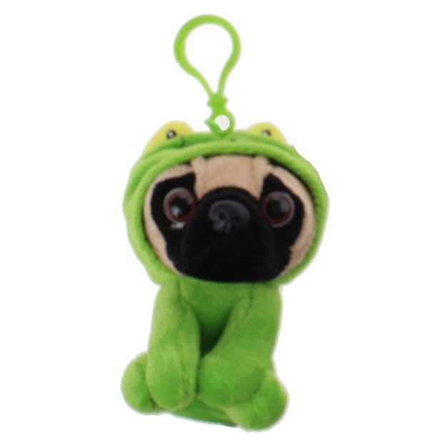 Kamparo sleutelhanger Pugs and Kisses kikker 11 cm groen