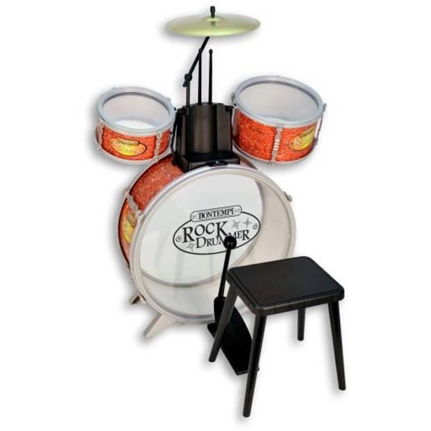 Bontempi drumstel RockDrummer 6-delig oranje