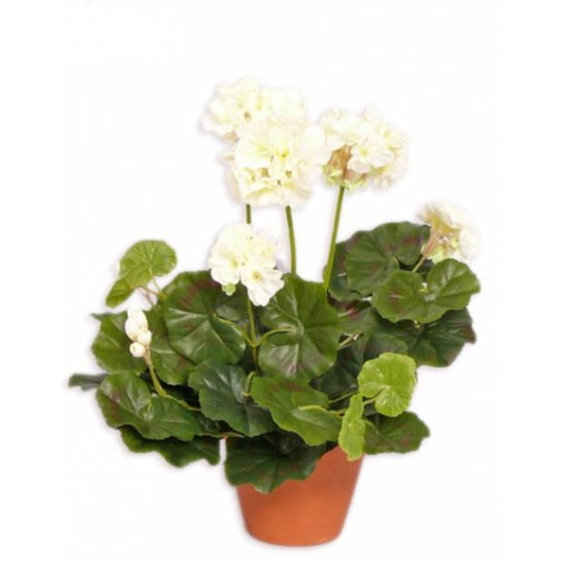 Kunstplant geranium wit 30 cm - Kunstplanten