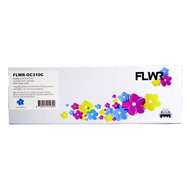 FLWR Oki C310 / 330 cyaan Toner