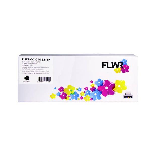 FLWR Oki C301 / C321 zwart Toner