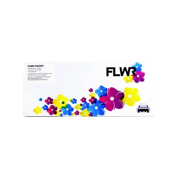 FLWR Brother TN-326Y geel Toner