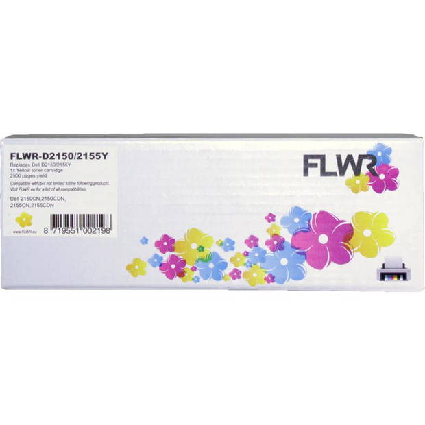 FLWR Dell 2150 / 2155 geel Toner