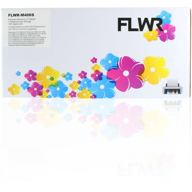 FLWR Samsung CLT-M406S magenta Toner