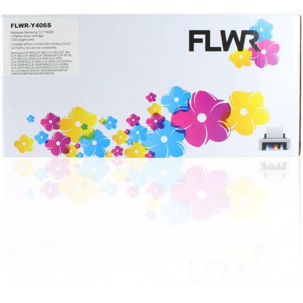 FLWR Samsung CLT-Y406S geel Toner
