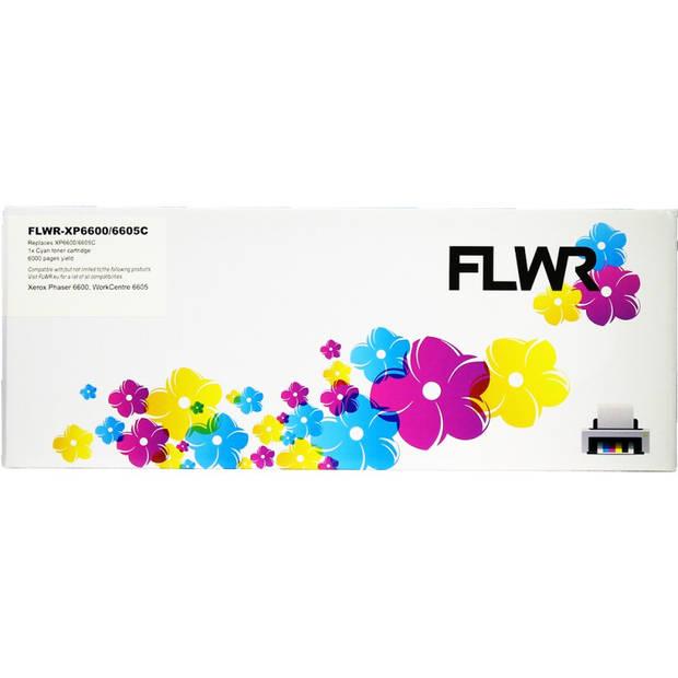 FLWR Xerox 6600/6605 cyaan Toner