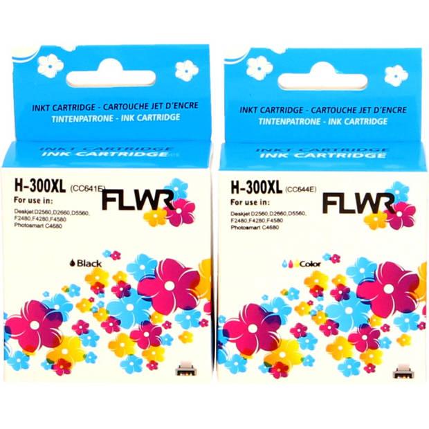 FLWR HP 300XL Multipack zwart en kleur Cartridge