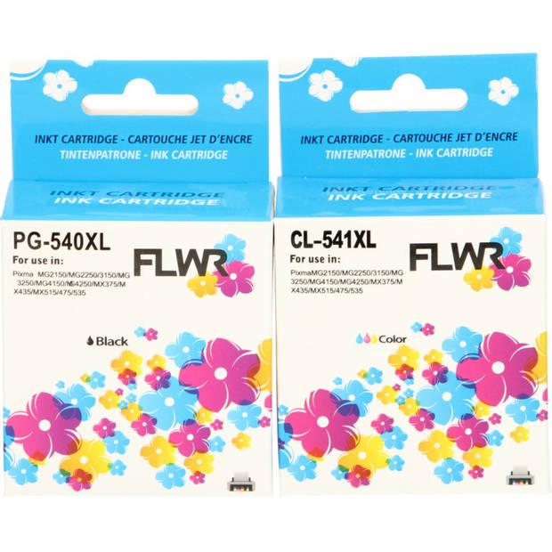 FLWR Canon PG-540XL / CL-541XL Multipack zwart en kleur Cartridge