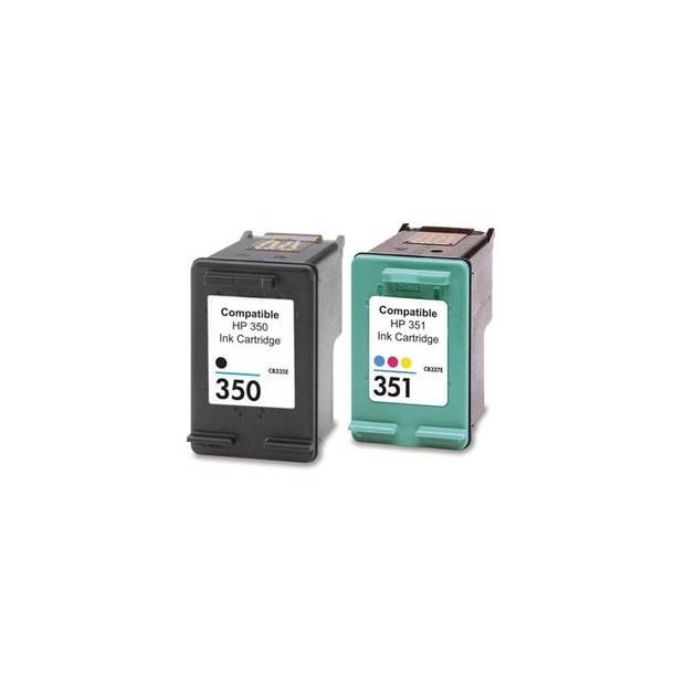 FLWR HP 350XL / 351XL Multipack zwart en kleur Cartridge