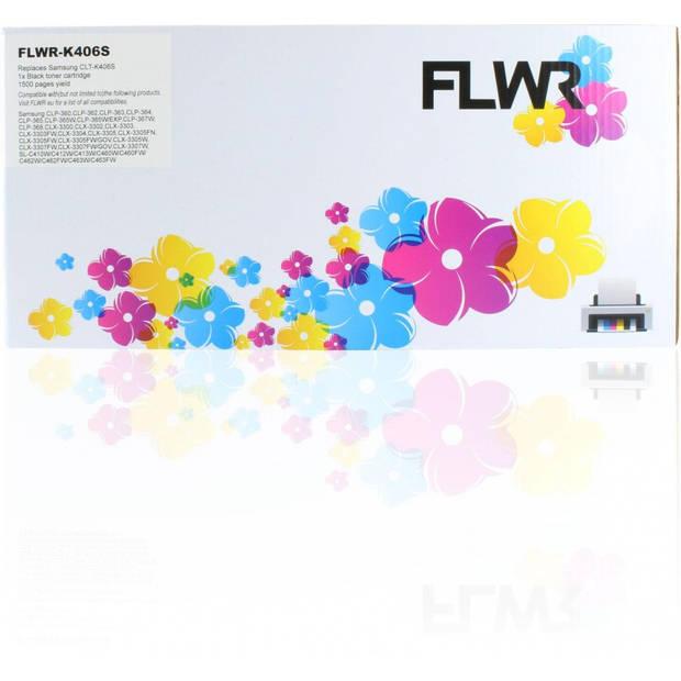 FLWR Samsung CLT-K406S zwart Toner