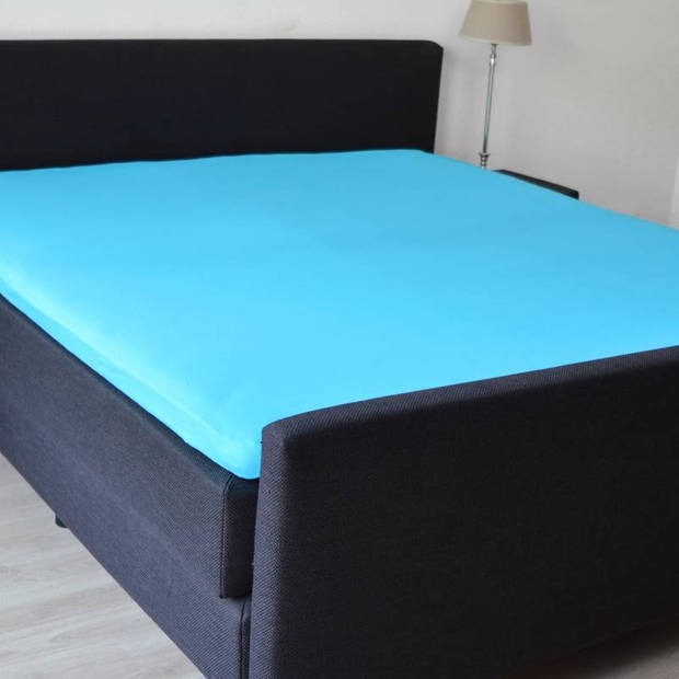 Snoozing - Katoen-satijn - Topper - Hoeslaken - 100x220 - Turquoise