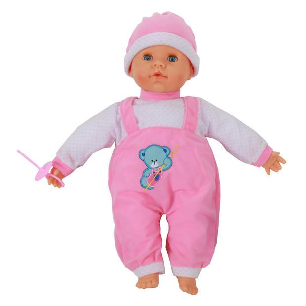 Falca babypop 38 cm meisjes roze
