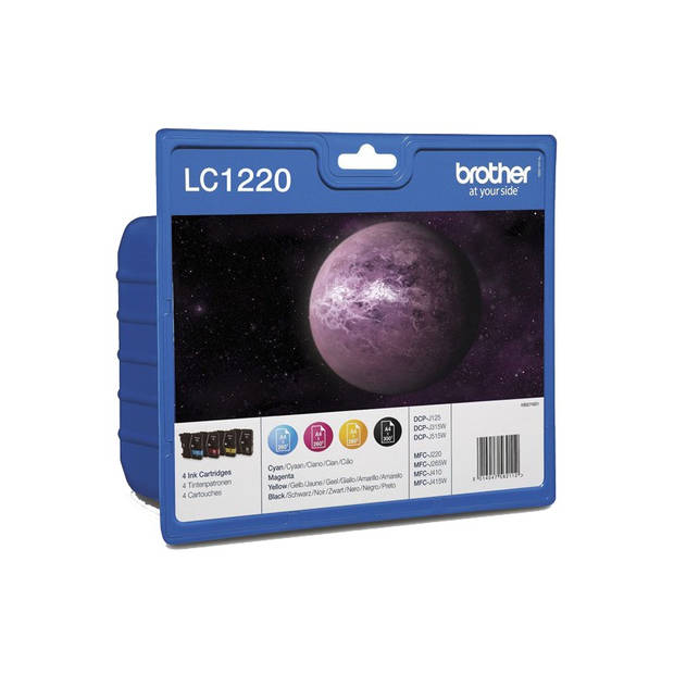 Brother LC-1220 Multipack zwart en kleur Cartridge