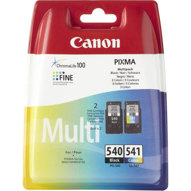 Canon PG-540 / CL-541 Multipack zwart en kleur Cartridge