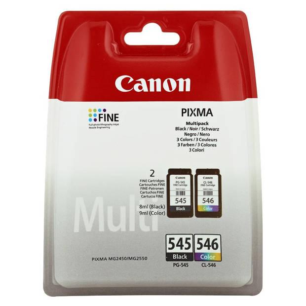Canon PG-545 / CL-546 Multipack zwart en kleur Cartridge